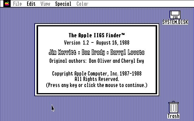 GS/OS 4.0, Finder 1.2