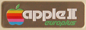 Apple II Europlus name plate (photo courtesy Gerard Putter)