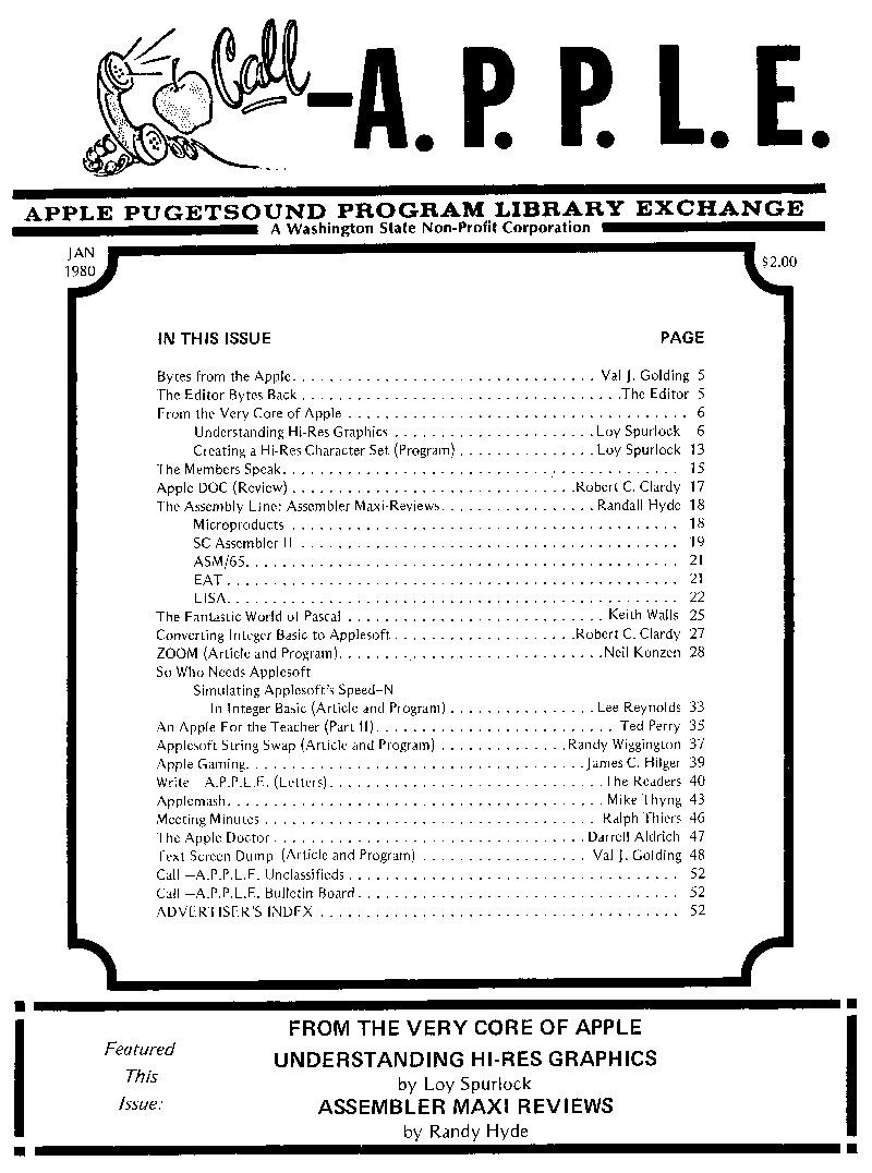 Call-A.P.P.L.E. Jan 1980 cover