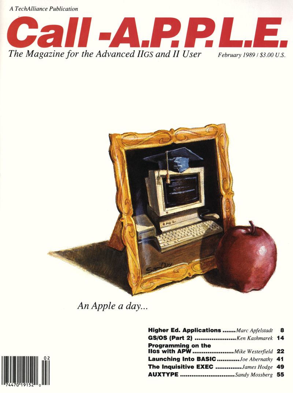 Call-A.P.P.L.E. Feb 1989 cover