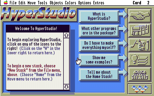 HyperStudio screen shot