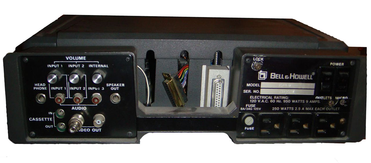 Bell & Howell Apple II Plus, rear panel, courtesy of David Hodge