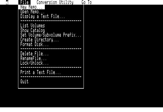 AppleLink MouseText screen