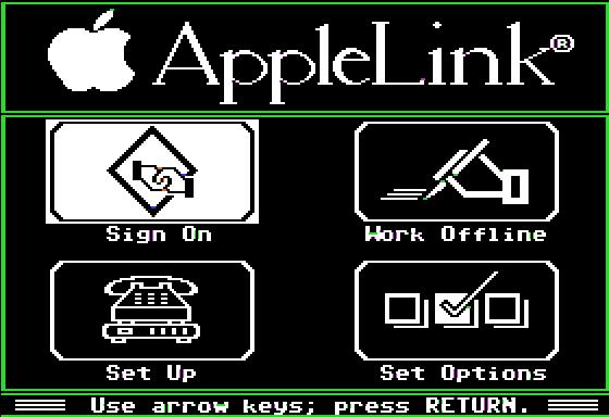 AppleLink Personal Edition, IIe screenshot