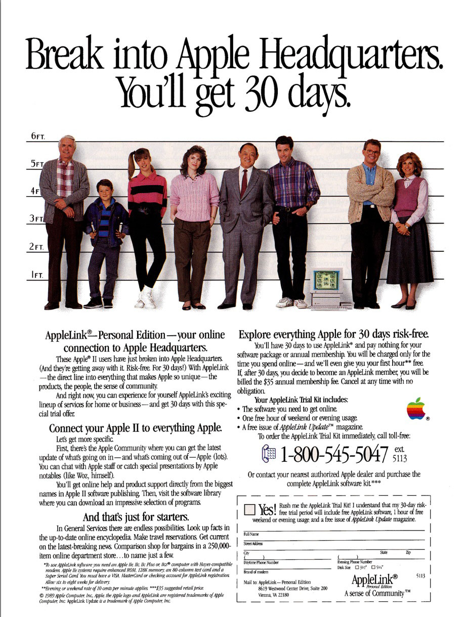 AppleLink Personal Edition ad