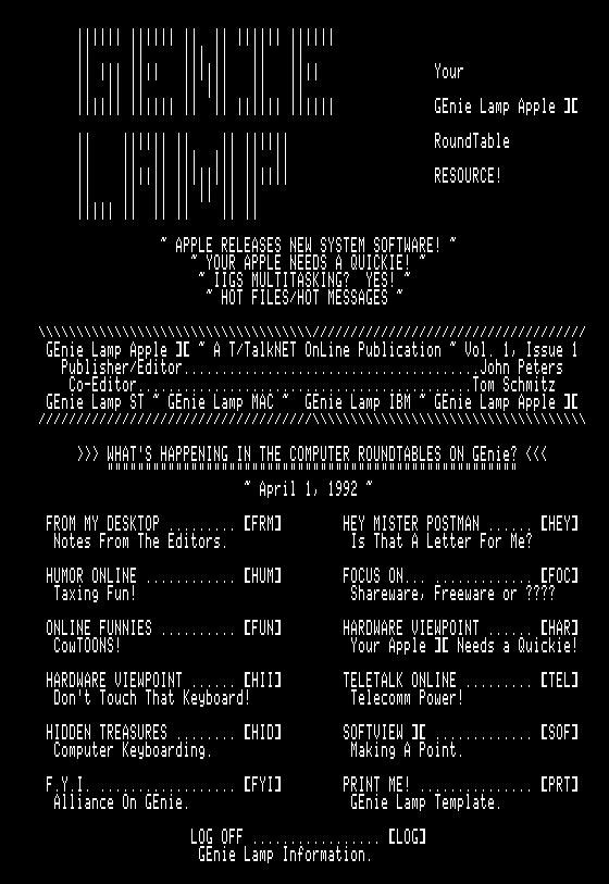 GEnieLamp A2 9204 screenshot
