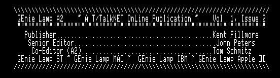GEnieLamp A2 9205 screenshot