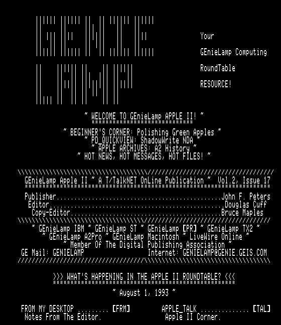 GEnieLamp A2 9308 screenshot
