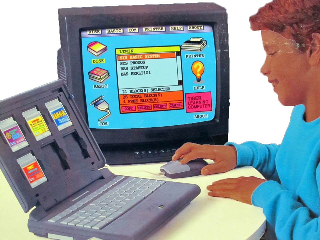 Tiger Learning Computer retail box